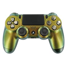 """""""Enigma Silvalime Gold"""" Chameleon PS4 Custom UN-MODDED Controller [video game]"""
