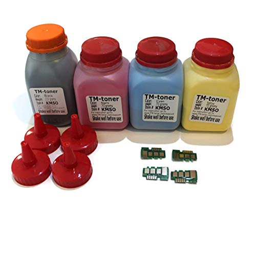 Compatible 4X Toner Refill kit Chips for Samsung Xpress SL-C1810W SL-C1860FW Printer and CLT-C504S CLT-M504S CLT-Y504S CLT-K504S Cartridge ()