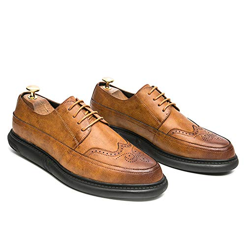 Business unita da casa tinta Giallo in Uomo per scarpe Scarpe uomo guidare vivere intagliata brogue suola Oxford arrotondata compagnia punta Pelle camminare Jiuyue shoes 2018 e EwHxIqwp0