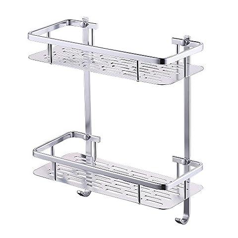 KES Shower Shelf, Bathroom Shelf Basket 2 Tier 12.4