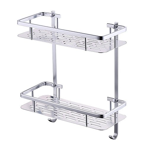 KES Bathroom Shelf, Shower Shelf Basket 2 Tier 12 Inch Aluminum - Shower Organizer Wall Mounted, ()