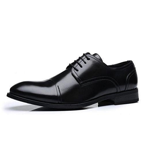 Faranzi Oxford Shoes For Men Cap Toe Lace Up Men Dress Shoes Zapatos de Hombre Comfortable Classic Modern Formal Business Dress Shoes For Men