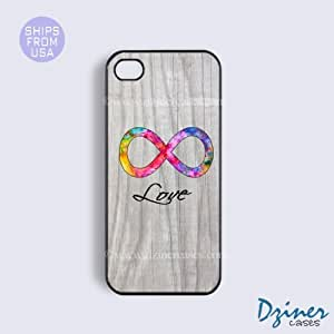 iPhone 5c Case - White Wood Infinity Love iPhone Cover (NOT REAL WOOD)