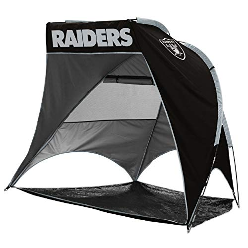 Logo Brands NFL Oakland Raiders Unisex Retreat CabanaRetreat Cabana, Black, One Size