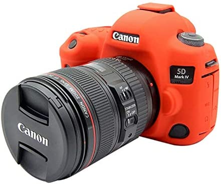 Color : Red MEETBM ZIMO,Soft Silicone Protective Case for Canon EOS 5D Mark IV