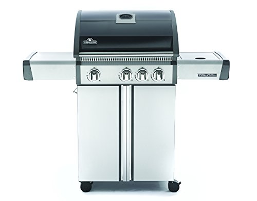 Napoleon T410SBNK Triumph Natural Gas Grill with 3 Burners, Black and Stainless Steel by Napoleon