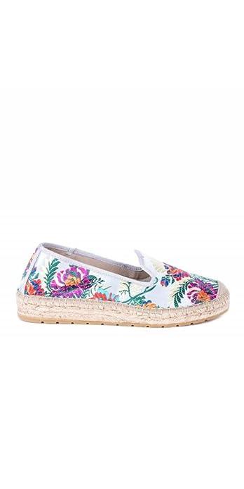 VIDORRETA Alpargatas Flores Bordadas - Color - Gris, Talla Zapatos Mujer - 40: Amazon.es: Zapatos y complementos