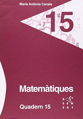 Descargar Libro Matemàtiques. Quadern 15 Maria Antònia Canals