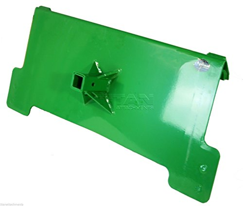 (Titan Attachments HD Receiver Trailer Hitch Fits John Deere 200 300 400 500 Tractor loaders Towing)