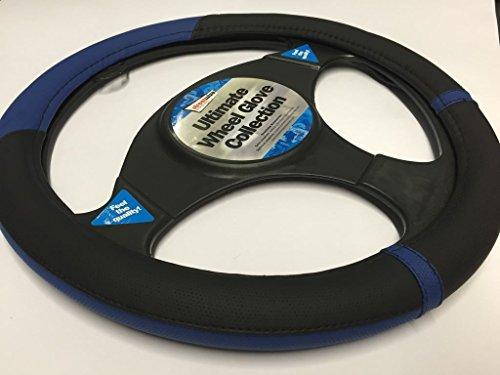 Peugeot 207 Black & Blue Steering Wheel Cover Glove 37cm: