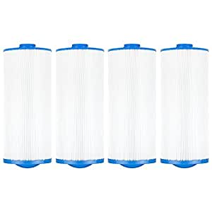 "Clear Choice CCP293 Pool Spa Replacement Cartridge Filter for Jacuzzi Premium J-300 and J400 Filter Media, 6-3/4"" Dia x 15-1/2"" Long, [4-Pack]"