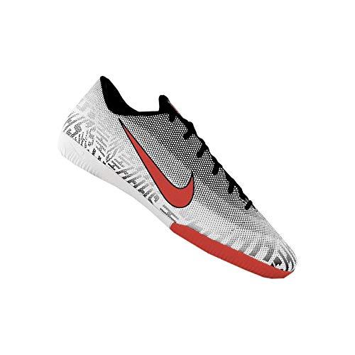 Nike Vapor 12 Academy NJR IC Mens Indoor Soccer (9 M US, White/Black/Challenge)