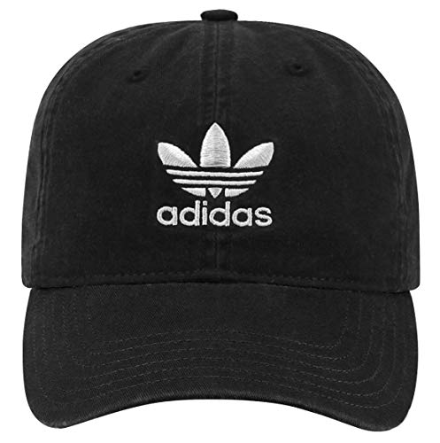 adidas Originals Women's Relaxed Adjustable Strapback Cap, Black/White, One Size