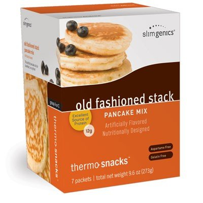 SlimGenics Thermo-Snacks ® |10g Protein - Alleviate Cravings, Increase Energy and Mental Focus, Enhance Weight Loss Results - Kosher Certified, 150 Calories - 7 Packets | Pancake Mix