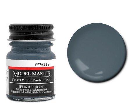 (Testor Corp. Gunship Gray Enamel Paint .5 oz bottle FS36118)