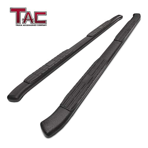 "TAC Side Steps Running Boards Fit 2019 Dodge Ram 1500 Crew Cab (Excl.2019 Ram 1500 Classic) Truck Pickup Off Road Accessories 4.25"" Oval Bend Texture Black Side Bars Step Rails Nerf Bars (2 PCS)"