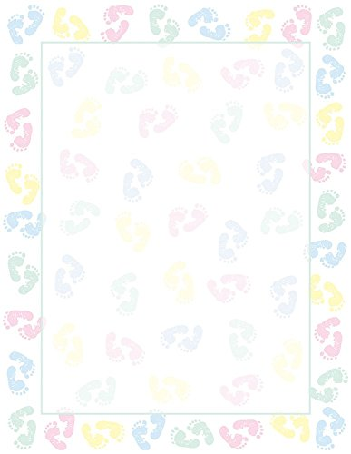 Great Papers! Baby Feet Letterhead, 80 Count, 8.5