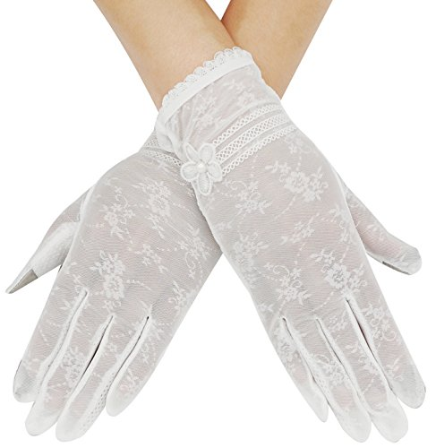 Bellady Women's Outdoor Summer Driving Screentouch Gloves,White (Gloves Driving Stretch)