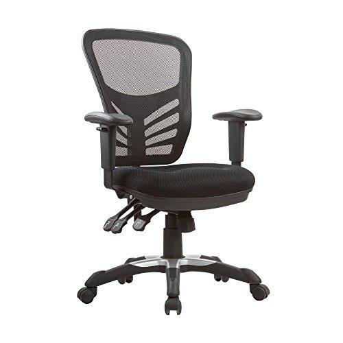 Manhattan Comfort Governor Collection Modern Comfortable High Back Mesh Adjustable Swivel Office Chair, Black by Manhattan Comfort