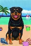 Rottweiler – Tomoyo Pitcher Summer Beach Large Flag