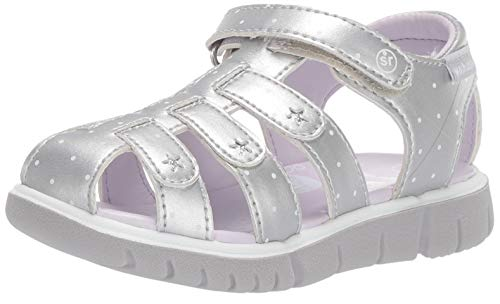 Stride Rite baby-girls  Olive Sandal , silver 8.5 M US Toddler