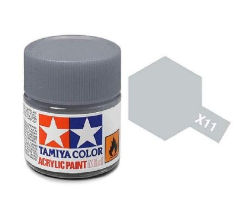 Tamiya Models X-11 Mini Acrylic Paint, Chrome Silver