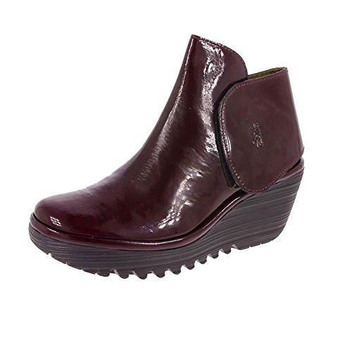 Heel Black Patent Ankle Boot - 8
