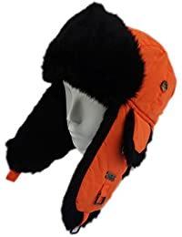 Taslon Faux Fur Aviator Ski Trapper Trooper Pilot Hat