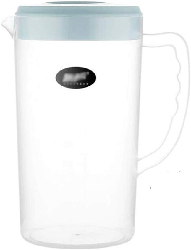 0.66 Gallon groß Plastic Pitcher mit Lid Bpa-Free Eco-Friendly Carafes mischen Drinks Water Jug für Hot/Cold Lemonade Juice Beverage Jar Eis Tea Kettle (84Oz, Blue)