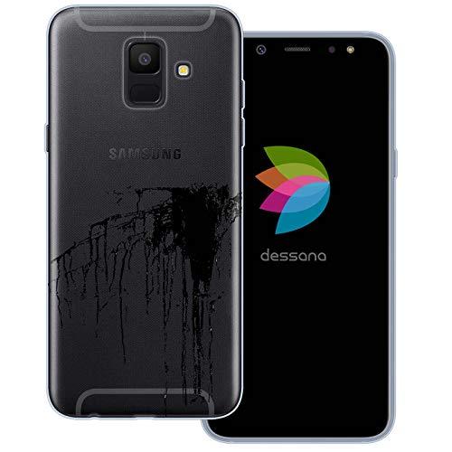 dessana Ink Transparent Protective Case Phone Cover for Samsung Galaxy A6 (2018) Dauber Black