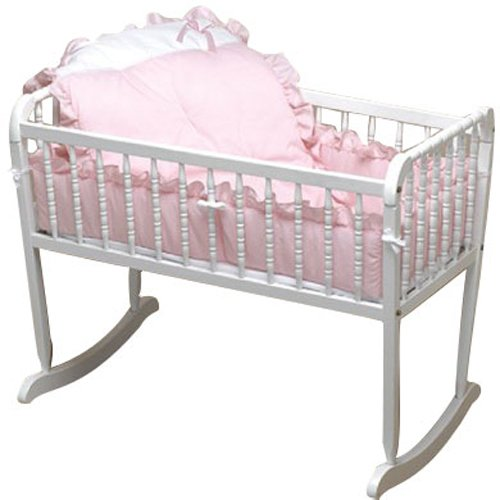 Baby Doll Bedding Pretty Pique Cradle Set, Pink by BabyDoll Bedding