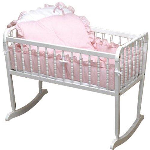Baby Doll Bedding Pretty Pique Cradle Set, (Baby Cradle Bedding Set)