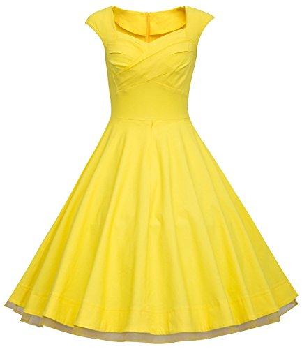 U-shot - Vestido - Sin mangas - para mujer amarillo