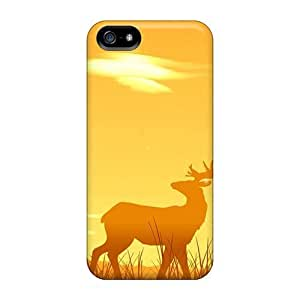 Forever Collectibles Sunset Nature Orange Deer Hard Snap-on Case For Iphone 5/5S Cover
