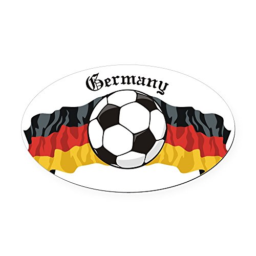 CafePress - GermanySoccer.jpg Oval Car Magnet - Oval Car Magnet, Euro Oval Magnetic Bumper Sticker (2006 World Flag Cup T-shirt)
