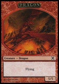 (Magic the Gathering: Dragon (10E Token) - 10th Edition)