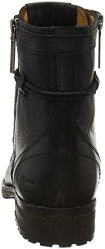 Black para Negro Pepe London Jeans Melting 999 Zipper Mujer Botas W AOYzwx
