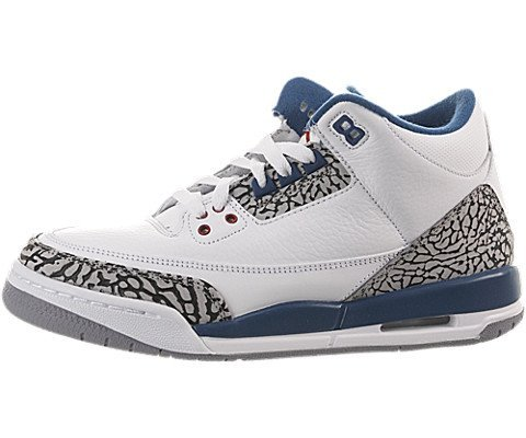 Air Jordan 3 Retro (Gs) 398614-104 (White/true blue) 4Y D(M) US by Jordan