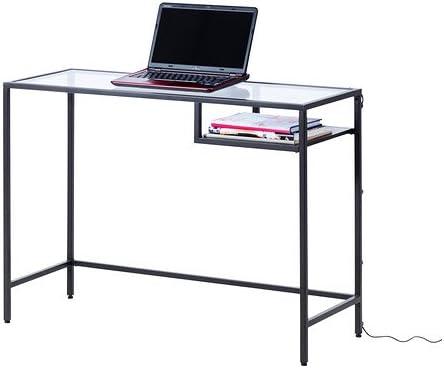 Ikea Vittsjö - Mesa para Ordenador portátil, Negro-marrón, Vidrio ...