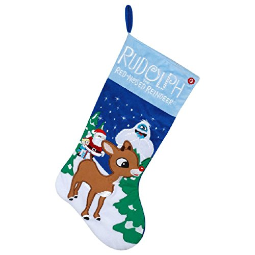 21 Inch Gemmy Rudolph the Red-Nosed Reindeer Musical Christmas Stocking - Musical Christmas Stocking