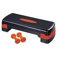 Ultrasport Aerobic Steppbrett inkl. 2 x 0,75 kg Vinyl Hanteln