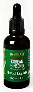 Health Aid Korean Ginseng (Panax ginseng) , 50ml líquido