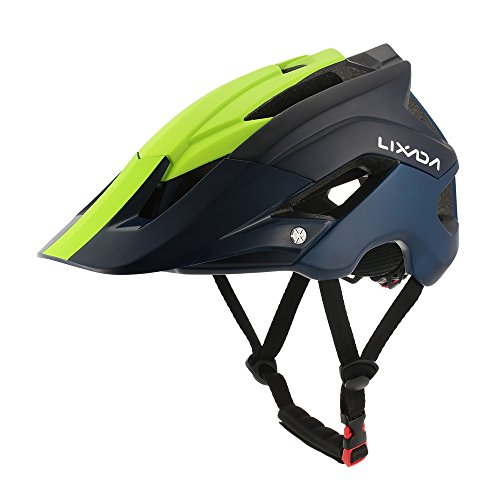 Cheap Lixada Mountain Bike Helmet Ultralight Adjustable MTB Cycling Bicycle Helmet Men Women Sports Outdoor Safety Helmet with 13 Vents (Blue+Yellow)