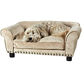 Enchanted Home Pet Dreamcatcher Dog Sofa, 32.5 By 21 By 12 Inch, Caramel