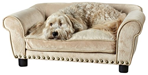 - Enchanted Home Pet Dreamcatcher Dog Sofa, 32.5 by 21 by 12-Inch, Caramel