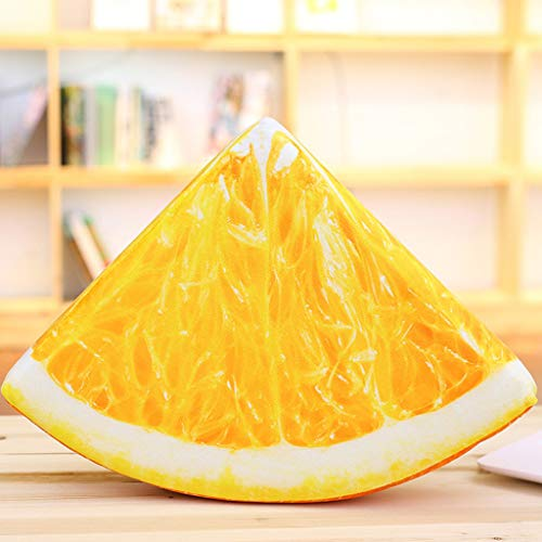 (3D Fruit Pattern Floor Pillows Creative Seat Cushion Cover Case For Home Living Room Decoration (Yellow))