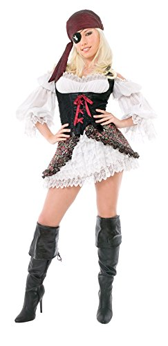 [Adult Playboy Buccaneer Beauty Sm Halloween Costume] (Buccaneer Beauty Costume)