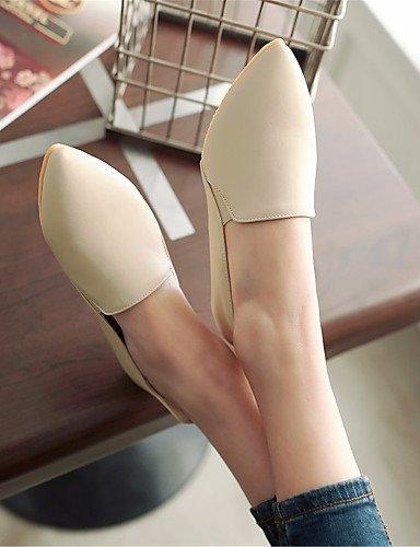 A Nero Ballerine Sportivo Donna Casual punta e Giallo Piatto Scarpe Vernice Ufficio Beige ShangYi beige lavoro RCq18Sx7w