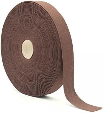 Cinta de algodón marrón, H 25 mm Longitud 50 m: Amazon.es: Hogar