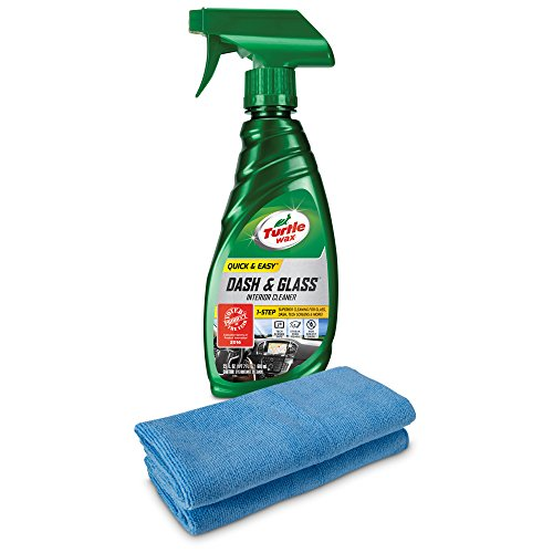 Interior Glass - Turtle Wax 50824 Quick and Easy Dash and Glass with 2 Microfiber Towels